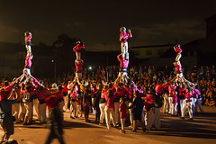 PILARS (Imallofr) Tags: magentes castellersdesantfeliu castellers castells festesdetardor festamajor seguici blanco magenta arrels colors cultura catalunya expousure children nit noche tradici traditions