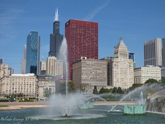 Chicago (Belinda Fewings (3 million views. Thank You)) Tags: internationalcity summerinthecity summer august holiday travel park america cityscape panasoniclumixdmc belindafewings contrast water windows colours skydeck willistower skyscrapers architecture buildings grantpark city usaunitedstatesofamerica usa illinois chicago rainbow fountains