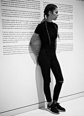 Girl profile portrait (pedrosimoes7) Tags: girl profile portrait museuartearquitecturatecnologia maat belem lisbon portugal museu muse museum creativecommons pretoebranco blackandwhite blackwhite people gente gentedeportugal passionphotography artisawoman blackwhitepassionaward