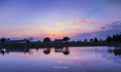 Sundown (cuongchido) Tags: sundown sun sunset longexposure reflect reflections countryside caolanh canon60d canon ray clouds cloud