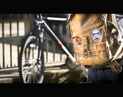 May the Force be with you. (61of365) (Reckless Times) Tags: star wars badge tourists bag rucksack may force be with you movie oxford tourism travel nikon d750 bike bokeh cool fouth