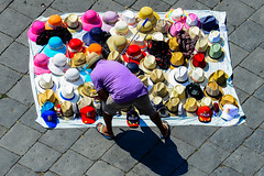 Hat Man (Maskedmarble) Tags: messina street hat seller sicily