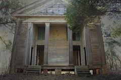(SouthernHippie) Tags: haunted haunting paranormal ghosts ghost ghostly moody mood creepy sad alabama abandoned al abandonment americana architecture american alone forgotten woods trees tree windows door southern south gritty church old outside outdoors rural ruin rustic rurex exploring halloween sunlight building brown usa scary greekrevival spooky