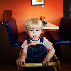 Caleb at breakfast yesterday (Adam Walker Cleaveland) Tags: square lofi squareformat iphoneography instagramapp uploaded:by=instagram foursquare:venue=4b9bdf55f964a520d42f36e3