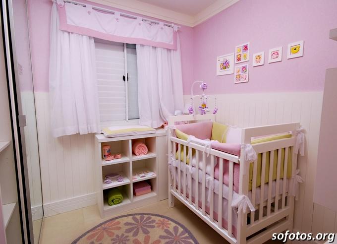 Quarto bebe menina apartamento