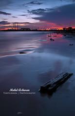 Labuan (Mohd Ashwan) Tags: sunset sun seascape 120 beach set sunrise landscape nikon tripod engineering single malaysia octopus 24 shipyard jpeg malaysian engineer sabah pru labuan cokin 24120mm gnd nd8 pseries d80 p121s ge13