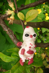 Croustille la Chenille 03 (The Maman Panda) Tags: cute doll artist ooak clown caterpillar resin poupe tendres chimeres