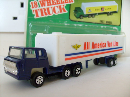 YATMING BERNARD ARTICULATED TRUCK NO2 ALL AMERICAN VAN LINE MAJORETTE COPY 1/64