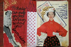 Eleanor Roosevelt Quote (artsychicksw) Tags: art altered mixed women media journal read journaling eleanorroosevelt