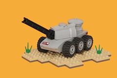 M209 Archer (pasukaru76) Tags: lego military artillery afv moc railgun canon100mm