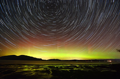 anacortes  aurora star trails 6 2013 (Light of the Moon Photography) Tags: sky night lights star islands washington nikon san juan tide north trails flats aurora anacortes northern borealis polaris d7100 vision:sunset=096
