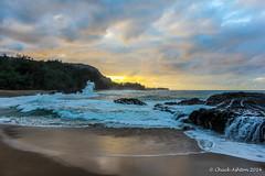 Lumahai_Beachcya (Chuck 55) Tags: sunset hawaii kauai lumahaibeach kauaibeach
