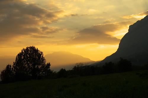 Coucher de soleil en Isère
