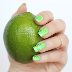 Neon Lemon Lime Nail Art | National Tequila Margarita Day Manicure | RickyColor Polish in Lemon Custard Dahlia Julep Laquer in Waleskka Living After Midnite Jackie Giardina (jackiegiardina) Tags: art beauty jackiegiardina lemon lime livingaftermidnight livingaftermidnite mani manicure nail nailart nails neon rickycolor rickys summer tequila