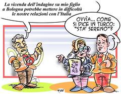 Sta' TurkSereno! (Moise-Creativo Galattico) Tags: editoriali moise moiseditoriali editorialiafumetti giornalismo attualit satira vignette erdogan renzi turchia italia