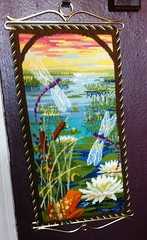 Needlepoint Dragonfly Banner (victowood) Tags: dragonfly needlepoint tiffany