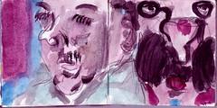 warum es Objektiv hie, war vlig unkar. Verbogen denn nicht unsere Gedanken die Wirklichkeit (raumoberbayern) Tags: auto city pink winter dog bus fall smart car pencil paper munich mnchen landscape herbst tram sketchbook hund stadt papier landschaft bleistift robbbilder skizzenbuch strasenbahn