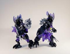Korgot Revamp - Comparison (0nuku) Tags: bionicle lego 2015 g2 korgot protector earth drill dagger villager