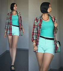 Mint and red casual look by Jane V., 24 year old IT specialist from Samara, Russia (9lookbook.com) Tags: 70s aliceinwonderland amber american animalprint animals blue bohemian business businesswoman casual checked cheshirecat childish cowboy cute denim denimskirt edgy elegant formal grunge haircut hairstyle hippi hotweather inked military mixstyle navy office official orange oversized pretty rebel retro rippedjeans rocknroll safari sailor sea shorts snail sport sporty stripes summer sunny tattoo tattooes tattoos turtle victorian western work