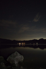 Big Dipper over Lake Motosu (Big Ben in Japan) Tags: motosuko bigdipper camping lake stars
