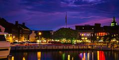 Downtown Annapolis (Pokemon Hunt) (Nikonian Annapolitan) Tags: sunset purple sky blue nikon d7000 annapolis downtown