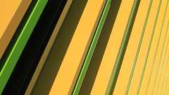 Simple Abstract 2.1 (No Great Hurry) Tags: polarisingfilter 550d canon viacom diagonal shadow jacobswebber simpleabstract architectureontheslant constructuralart architectural urban abstract camdentown robinmauricebarr jauneetvert vert jaune yellowandgreen greenandyellow yellow green nogreathurry golden lines minimalism cmwdyellow
