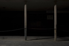 Shadows (Ranga 1) Tags: australia australian victoria melbourne collingwood urban urbanlandscape nocturnal nightphotography night nightexposure lowlightphotography lowlight longexposure carpark chains shadows cinematic melancholy still stillness concrete canon canoneos5dmarkiii ef1740mmf4lusm davidyoung minimalism explore