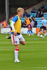 Josh Wright - Gillingham (SteveH1972) Tags: gillingham gills yellow person people man player players joshwright football footy soccer glanfordpark lincolnshire northlincolnshire northernengland britain england uk europe sport match warmup prematch 2016 august