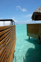 Gap between Pool water villas (survivingmaldives) Tags: baros maldives surviving