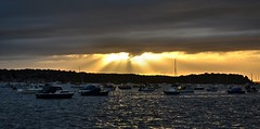 Last Rays (Tilney Gardner) Tags: crepuscularrays dorset sandbanks sunset poole harbour nikon boats southcoast