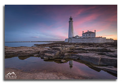 st marys lighthouse sunset (timothytripod) Tags: stmarys lighthouse sunset pink sky skyporn sunsets colour tones pastel piers seascape seaside sea explore leefilters water longexposure