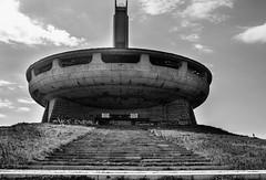 BUZLUDZHA-44 (RAFFI YOUREDJIAN PHOTOGRAPHY) Tags: buzludzha bulgaria spaceship soviet architecture ruin graffiti communist derelict abandoned relic distasteful building monument