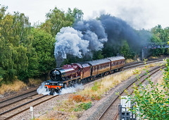 Getting Away (4486Merlin) Tags: 6201 countries england europe exlms lms8pprincessroyal midlands places princesselizabeth railways steam transport unitedkingdom ironville derbyshire gbr