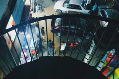 Untitled. (nClickzZ) Tags: dhaka bangladesh night nightlife mohammadpur townhall reeling livesinstreets people roaming framed lifting samsunggalaxys6 vsco colors nightcolors cars fromup downview friends