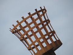 3331 Beacon fire basket (Andy panomaniacanonymous) Tags: 20160814 basket bbb beach beacon fff firebasket greatstone kent littlestoneonsea metal mmm