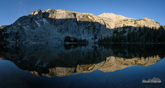 Crystal Clear (kevin-palmer) Tags: bighornmountains bighornnationalforest cloudpeakwilderness wyoming september fall autumn nikond750 tamron2470mmf28 backpacking fullmoon moonlight clear crystallake night evening water panorama panoramic reflection mirror snow