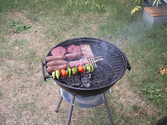 Barbeque (the_amanda) Tags: norcenni girasole club italy chianti holiday barbecue sausages kebabs burgers vegetables charcoal cooking outside summer