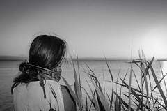Despidiendo al sol (Marisol Torremocha Lpez) Tags: valencia laalbufera blackwhite sunset puestadesol nikon nikond7000 d7000 verano summer retrato
