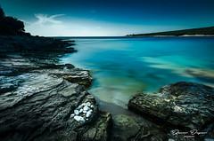 Seascape (_davor) Tags: sea seascape croatia longexposure morning summer water beach rocks blue turquoise nature hrvatska istria peninsula