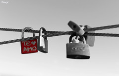 TE AMO (Noem pl.) Tags: teamo love candados mensaje amor rojo blancoynegro bnw