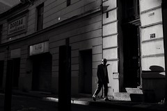 The Man Who Wasn't There (Mister Brooks) Tags: canoneos100d canon eos 100d noiretblanc lumire light marseille street urbain dark personnes ombre obscur