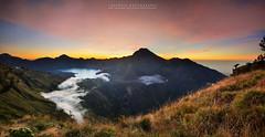 Panoramic Sembalun Crater Rim (azrudin) Tags: panorama rinjani mountrinjani mountain mount sunset dark dusk crater volcano hiking high campsite camping basecamp lake landscape lowlight lombok