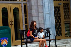 Relaxing (Rajavelu1) Tags: ladies girl mummy daughter street streetphotography art aroundtheworld universalstudio singapore relaxing bench enjoyment travel canon6d canonef70200f4llens outdoor mbpictures