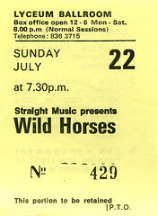 Wild Horses 22.7.79 (1978-1987) Tags: wildhorses thinlizzy concerttickets