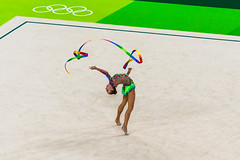 DSC_5146 (sergeysemendyaev) Tags: 2016 rio riodejaneiro rio2016 summerolympics summerolympicgames olympicgames sport competition  2016   brazil      rioolympicarena rhythmicgymnastics ribbon beautiful artistic olympicpark  nikon