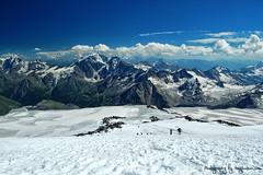 Mount Elbrus Summit Slopes (Tony Hodson | www.tonyhodson.com) Tags: mountaineering mountains mountain mountaineer travel trekking trail wanderlust wow world expedition exploring explore russia ussr photography nikon d7100