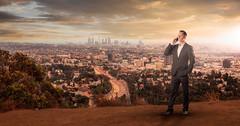 Composite Los Angeles (photoserge.com) Tags: composite hollywood view hills portrait sunset clouds