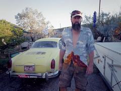 bell rock shirt chad (EllenJo) Tags: pentaxqs1 october17 2016 ellenjo ellenjoroberts pentax chad bellrock karmannghia home yard driveway