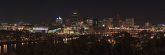 Downtown St. Paul - Prince Tribute Concert (mtuswan) Tags: prince princetribute downtown stpaul skyline panorama mississippiriver mn