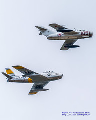MiG-15Bis & F-86F In Formation (AvgeekJoe) Tags: d5300 dslr f86 f86sabre f86f f86fsabre fu834 jolleyroger mig15 migmig15 migmig15bis mig15bis mikoyangurevichmig15bis nx186am nx87cn nikon nikond5300 northamericanaviation northamericanf86fsabre northamericansabre notheramericanf86 other planesoffame stevehinton warbirds aircraft airplane aviation jet militaryjet plane warbird